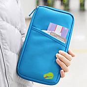 1개 여행 지갑 여권 지갑& ID홀더 방수 먼지 방지 휴대용 멀티기능 용 여행용 보관함 패브릭-블랙 레드 그린 블루 핑크