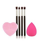 4 Eyeshadow Brush Synthetic Hair Portable Limits bacteria Wood Eye