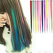 10 색 1 개의 클립 머리 확장에 긴 합성 직선 및 클립