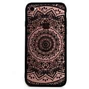 For Apple iPhone 7 7Plus 6S 6Plus 5 SE 5SCase Cover Retro Flower Pattern Openwork Relief Printing Thin PC Material Phone Case