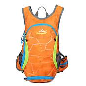 15 L 배낭 수렵 등산 레저 스포츠 사이클링/자전거 학교 캠핑&등산 여행 방수 방수 지퍼 통기성 물 방광을 포함 전화/Iphone 방습 미끄럼 방지 충격방지 나일론 메쉬