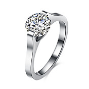 Ring AAA Cubic Zirconia Stainless Steel Zircon Titanium Steel Simulated Diamond Fashion Silver Jewelry Daily Casual 1pc
