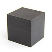 활성화 된 음성 및 터치 - raylinedo® 최신 디자인 패션 검은 나무 큐브 미니 푸른 나무 디지털 알람 시계 - 시간 온도 날짜 표시를 주도