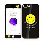 애플 아이폰에 대한 7 부드러운 가장자리 전체 화면 범위 앞면과 뒷면 화면 보호기 미소 패턴 4.7 강화 유리