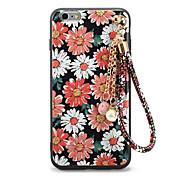 Para En Relieve Diseños Manualidades Funda Cubierta Trasera Funda Flor Suave TPU para AppleiPhone 7 Plus iPhone 7 iPhone 6s Plus iPhone 6
