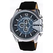 Hombre Reloj Deportivo Reloj de Vestir Reloj de Moda Reloj de Pulsera Chino Cuarzo Cuero Auténtico Banda Encanto Casual CreativoMúltiples