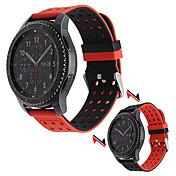 삼성 기어 s3 클래식 실리콘 고무 시계 밴드 양면 착용 스트랩 삼성 전자 s3 국경 손목 벨트 팔찌 22mm