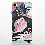 Para Diseños Funda Cubierta Trasera Funda Flamenco Dura Policarbonato para AppleiPhone 7 Plus iPhone 7 iPhone 6s Plus iPhone 6 Plus