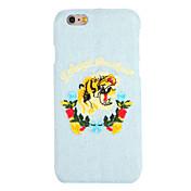 Para Diseños Manualidades Funda Cubierta Trasera Funda Animal Dura Textil para AppleiPhone 7 Plus iPhone 7 iPhone 6s Plus iPhone 6 Plus