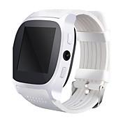 Reloj inteligente reloj t8 con la ranura para tarjeta del sim 2.0 mp cámara empuje mensaje bluetooth conectividad android teléfono