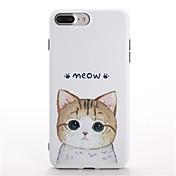 용 패턴 케이스 뒷면 커버 케이스 고양이 소프트 TPU 용 Apple 아이폰 7 플러스 아이폰 (7)