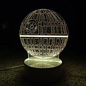 3D 문자 / 그림은 가족을위한 어린이 방 장식 램프 원격 제어의 USB 조명을위한 램프 빛나는 야간 조명을 주도