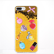 Para Diseños Funda Cubierta Trasera Funda Diseño de Encaje Suave TPU para Apple iPhone 7 Plus iPhone 7