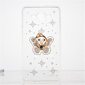 Para Diamantes Sintéticos Soporte para Anillo Transparente Manualidades Funda Cubierta Trasera Funda Mariposa Suave TPU para Samsung A7