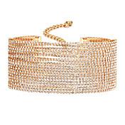 Mujer Gargantillas Diamante Legierung Diseño Único Dorado Plata Joyas Para Boda Fiesta Diario Casual 1 pieza