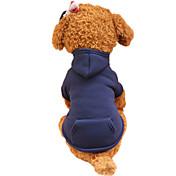 개 후드 강아지 의류 모든계절/가을 솔리드 패션
