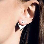 스터드 귀걸이 미니멀 스타일 유럽의 패션 합금 Triangle Shape 실버 골든 보석류 용 일상 캐쥬얼 2pcs