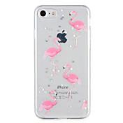 제품 케이스 커버 패턴 뒷면 커버 케이스 플라밍고 글리터 샤인 소프트 TPU 용 Apple 아이폰 7 플러스 아이폰 (7) iPhone 6s Plus iPhone 6 Plus iPhone 6s 아이폰 6