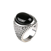 Retro Gemstone Ring For Women Men Jewelry Exaggerated Female Men Jewelry Ring