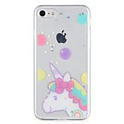 제품 케이스 커버 패턴 뒷면 커버 케이스 유니콘 글리터 샤인 소프트 TPU 용 Apple 아이폰 7 플러스 아이폰 (7) iPhone 6s Plus iPhone 6 Plus iPhone 6s 아이폰 6
