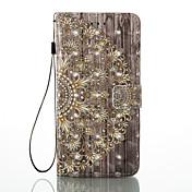 아이폰 7 더하기 7 3d 효과 만다라 패턴 pu 소재 지갑 섹션 전화 케이스 6 플러스 6s 5 se