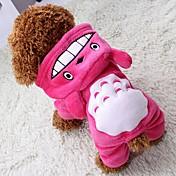 Gato Perro Abrigos Saco y Capucha Mono Pantalones Ropa para Perro Cosplay Mantiene abrigado Halloween Animal Gris Rosa Marrón