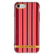 Para Carcasa Funda IMD Diseños Cubierta Trasera Funda Líneas / Olas Palabra / Frase Suave TPU para AppleiPhone 7 Plus iPhone 7 iPhone 6s