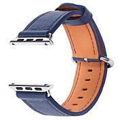 Reloj de la venda para la serie del reloj de la manzana 1 2 38m m pulsera de la correa del reemplazo del cuero genuino de 42m m