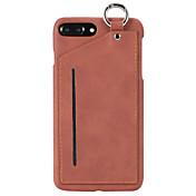 iphone 7 플러스 7 하이 엔드 솔리드 컬러 pc와 정품 가죽 카드 걸이 링 함수 전화 케이스 6 플러스 6s 6