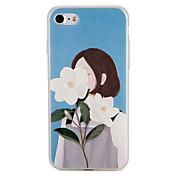 애플 아이폰 7 플러스 7 커버 패턴 다시 커버 케이스에 대 한 경우 섹시 한 여자 꽃 소프트 tpu 6s 플러스 6 플러스 6s 6