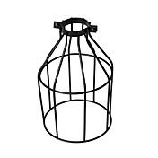 빈티지 산업 DIY 검은 금속 새장 램프 음영 조명 커버 펜던트 조명 벽 조명 교체 램프 커버