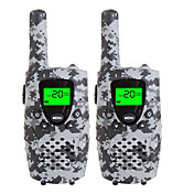 Walkie talkies duraderos del camo para los cabritos usb micro de 22 canales que cargan 3 millas (hasta 5miles) los mini walkie talkies