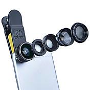 Aszune apl lente del teléfono móvil lente del cpl con el filte 198 lente del fish-eye lente focal larga 2x lente grande angular 0.63x