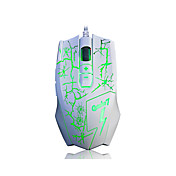 a-jazz 4000dpi a-jazz q7 강조 맞춤 게임용 마우스 유선 USB 특수 효과 게임 4 속도 전송 8 키