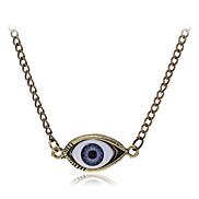 lureme®vintage Legierung Augenmuster Halskette (Bronze)