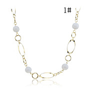 Alloy Bead Verbunden Halskette (verschiedene Farben)