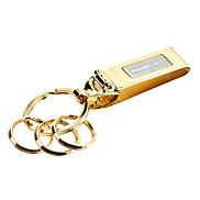 Acierage Gold-Schlüsselanhänger mit Vier Ringe