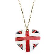 Die Nationalflagge und herzförmigen Retro Halskette