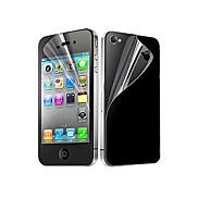 12X Clear Front-und Back-Schirm-Schutz für iPhone 4/4S