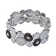 lureme®alloy Acrylflügel Muster verbunden Armband