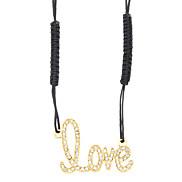Liebe Diamant-Halskette Häkeln