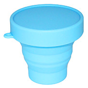 Foldable silicone measuring cup(Blue)