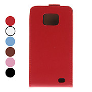 Solid Color PU Leather Case for Samsung Galaxy S2 I9100 (Assorted Colors)