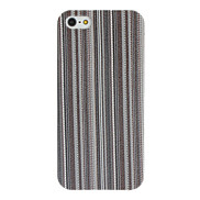 Vertical Lines PU Leather Hard Case for iPhone 5/5S