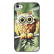 Pineapple Shaped Owl Pattern Back Case for iPhone 4/4S
