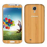 Vertical Bar Wood Grain Pattern Body Sticker for Samsung Galaxy S4 I9501