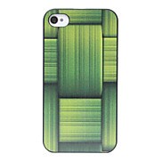 Fresh Green Bamboo Pattern Back Case for iPhone 4/4S