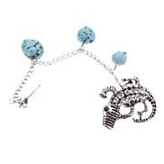 European And American Style Full Of Diamond Ear Bones Clip Gecko Turquoise Pendant Earring * 1