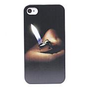 Ancient Cigarette Lighter Pattern Back Case for iPhone 4/4S