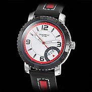 Men's Black Case PU Leather Analog Quartz Wrist Watch